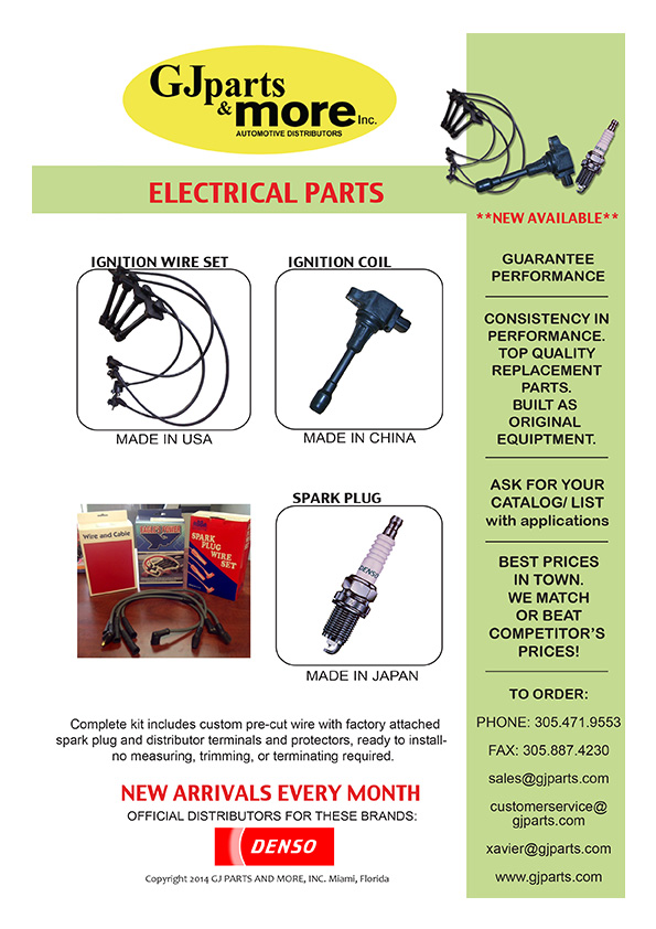 Electrical Parts Catalog