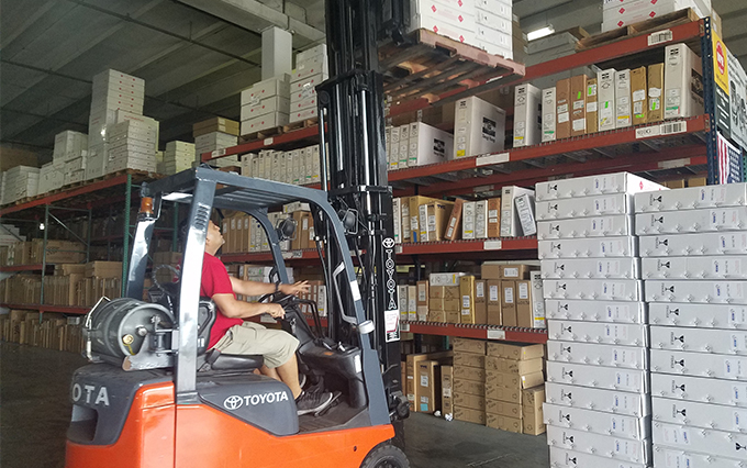 GJ Parts Warehouse and Forklift